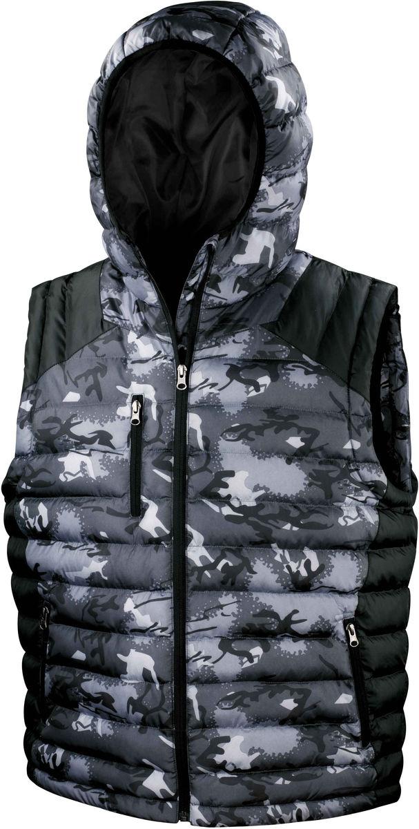 Bodywarmer camouflage doudoune sans manches - R404X - gris camo army