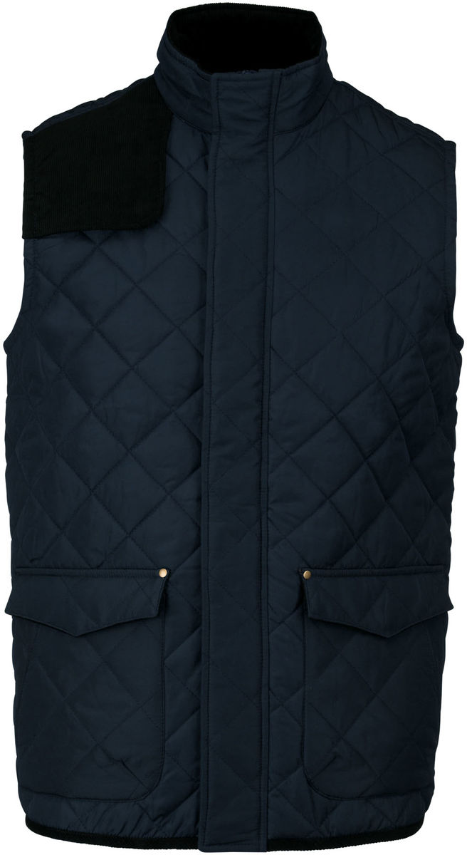 Bodywarmer veste sans manches matelassée - K6124 - bleu marine - homme