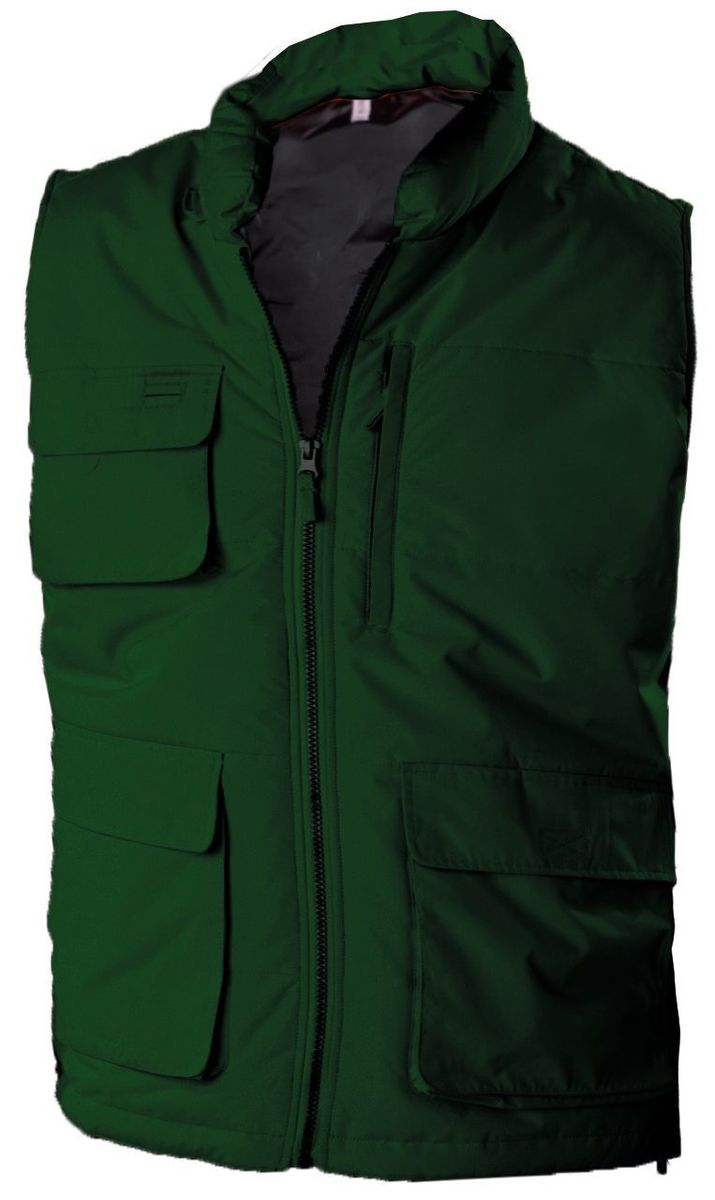 Veste sans manches bodywarmer matelassé - K615 - vert forêt