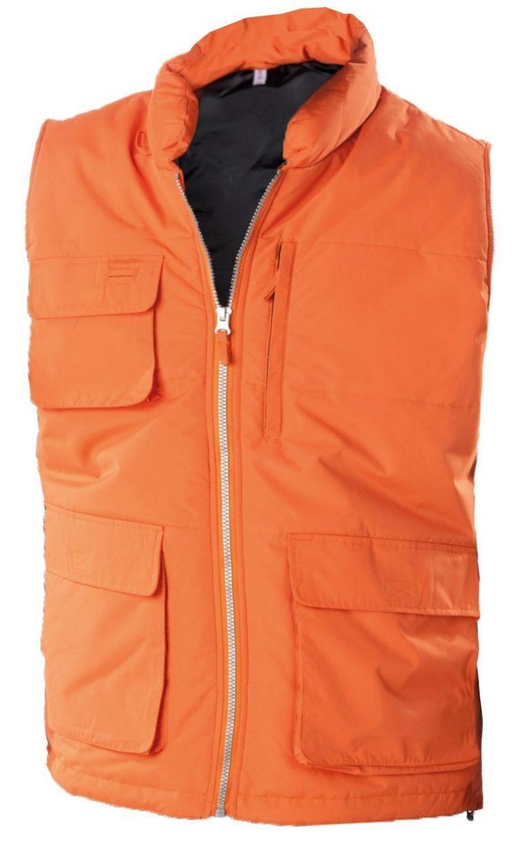 Veste sans manches bodywarmer matelassé - K615 - orange