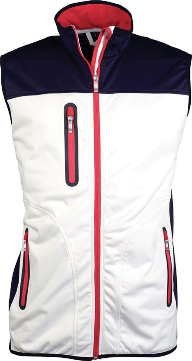 Veste softshell sans manches bicolore - K417 - blanc - homme