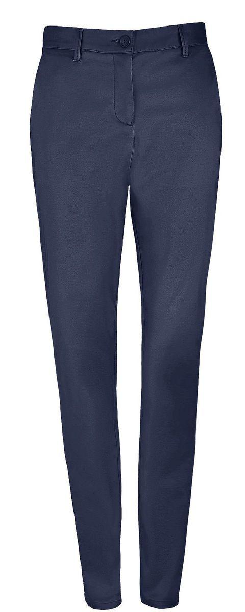 pantalon toile satin femme - 02918 - bleu marine