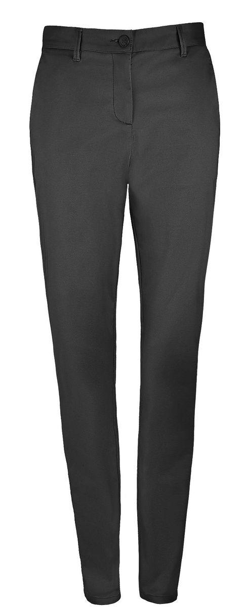 pantalon toile satin femme - 02918 - noir
