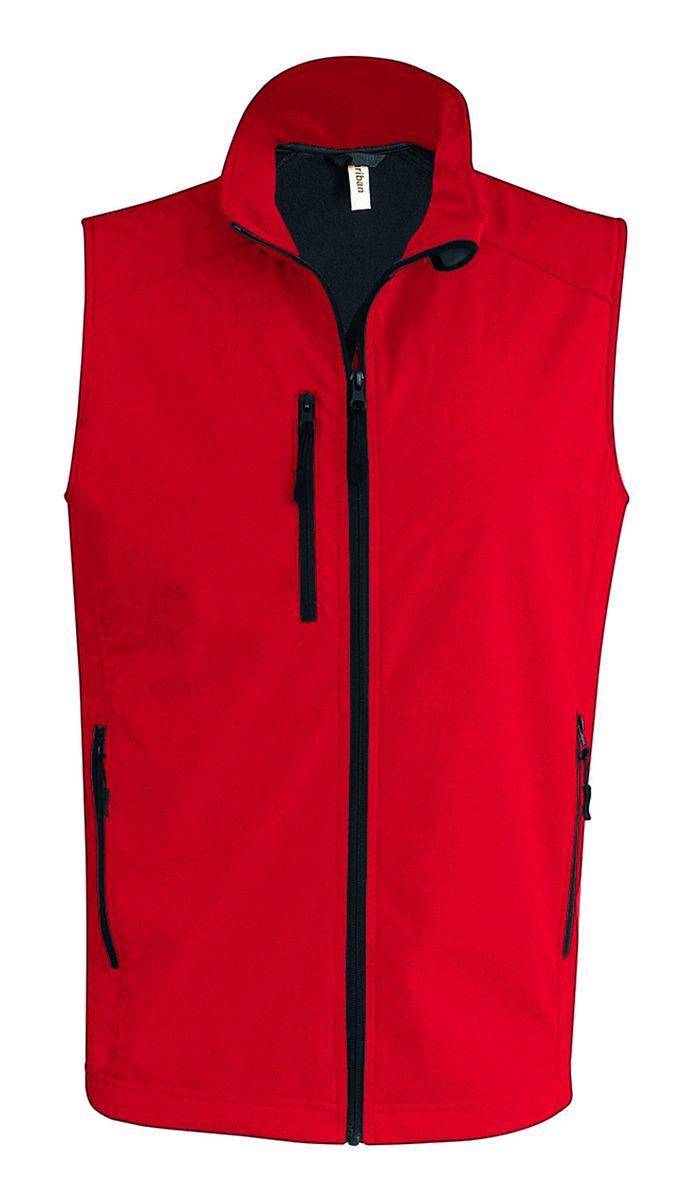 Bodywarmer softshell - gilet sans manches - K403 - rouge - Homme