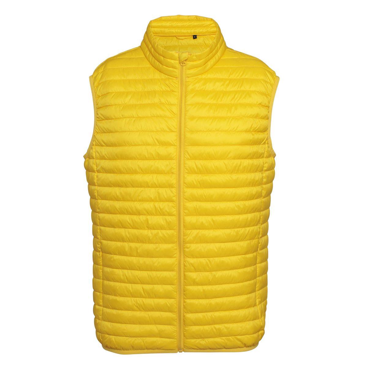 Doudoune sans manches homme - TS019 - jaune