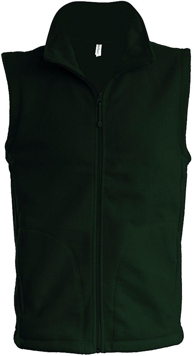 Gilet sans manches micro polaire homme - K913 - vert forêt