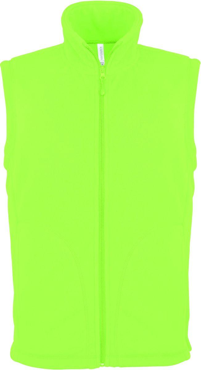 Gilet sans manches micro polaire homme - K913 - vert lime
