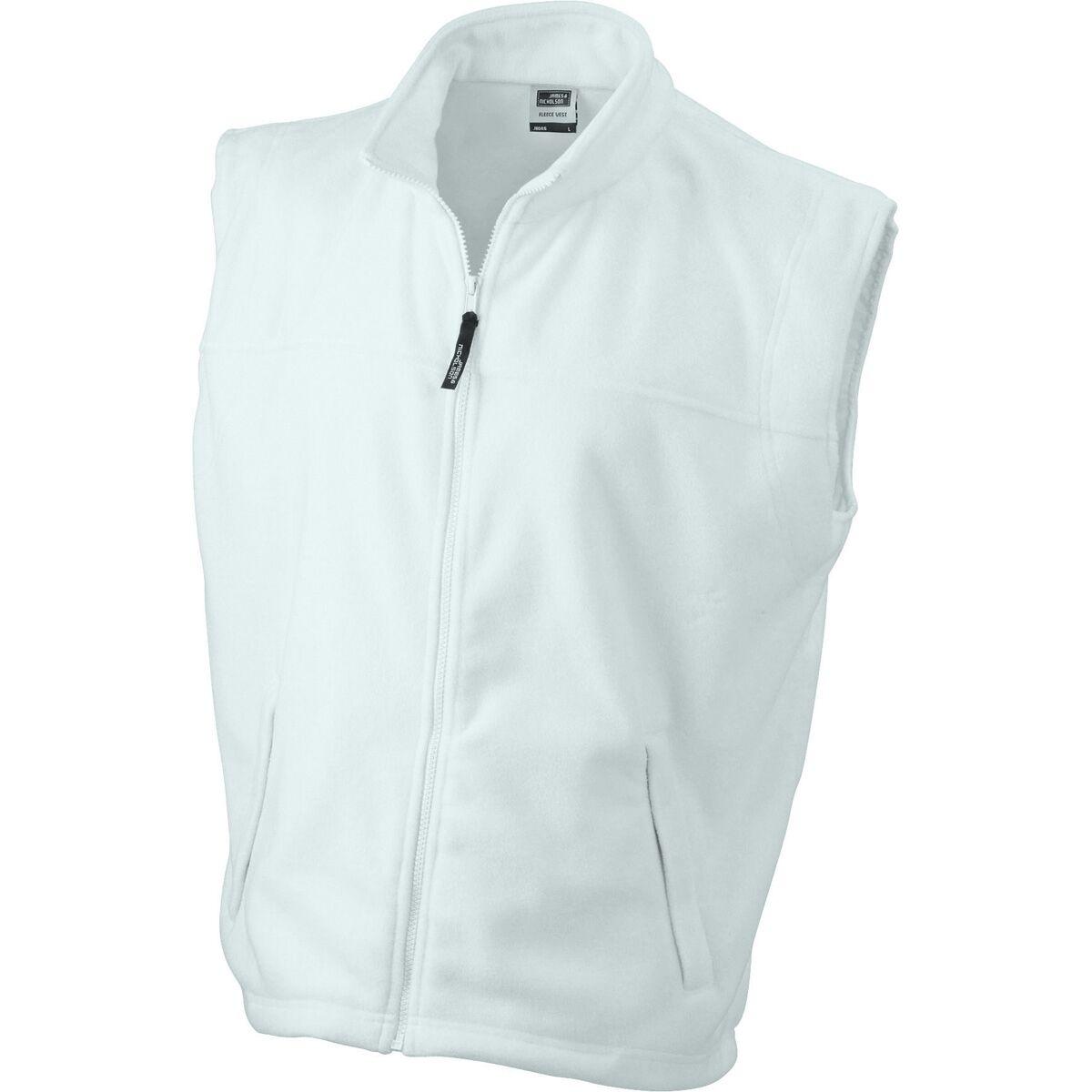 Gilet sans manches bodywarmer polaire homme - JN045 - blanc
