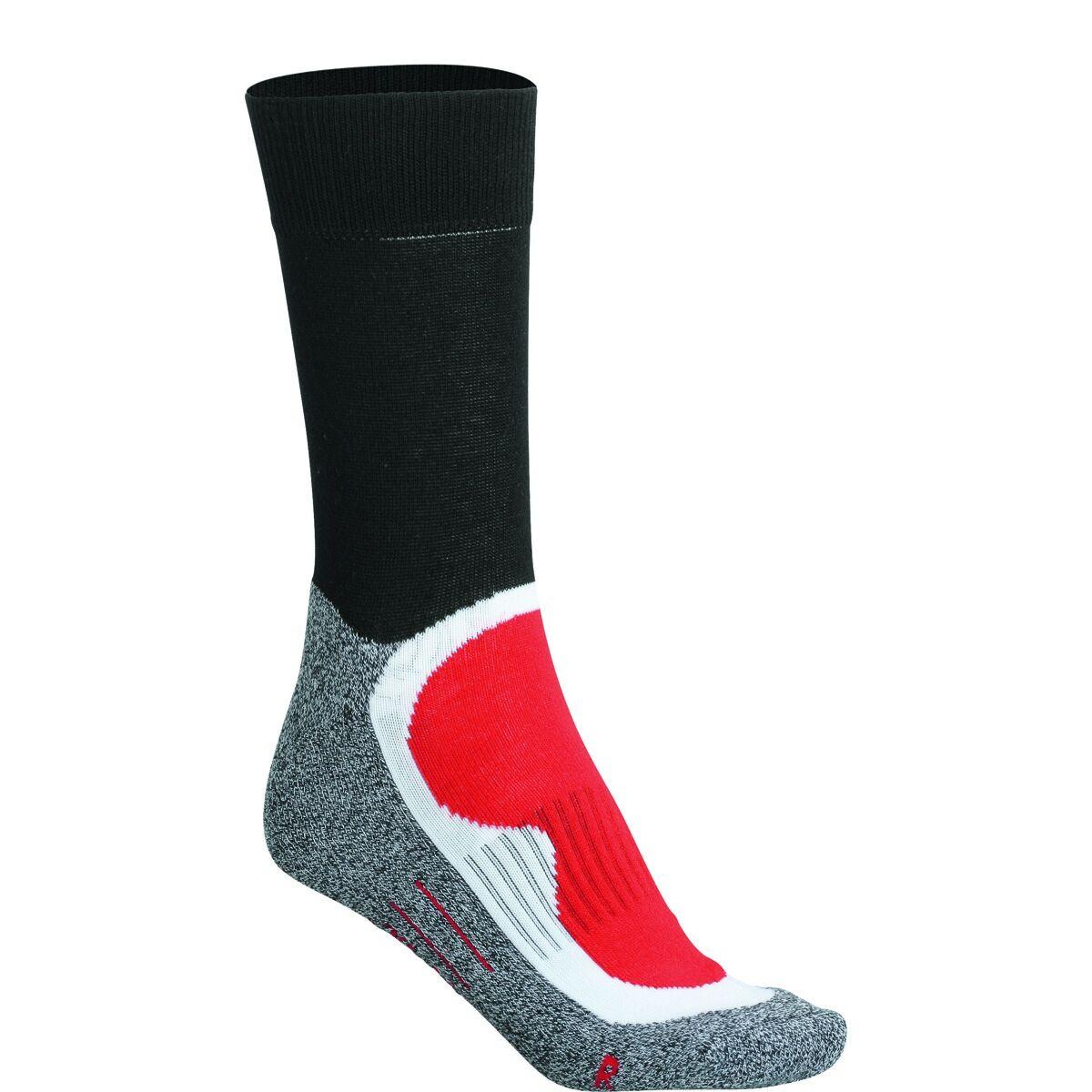 Chaussettes de sport - homme femme - JN211 - rouge et noir