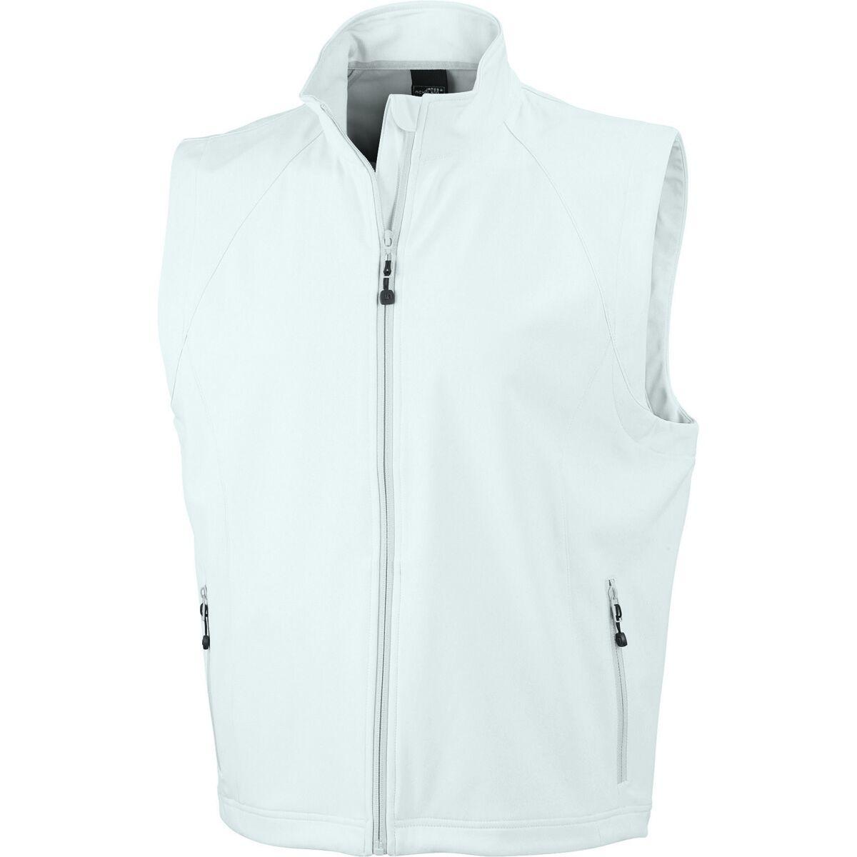 Gilet sans manches softshell coupe-vent imperméable JN1022 - blanc cassé - homme