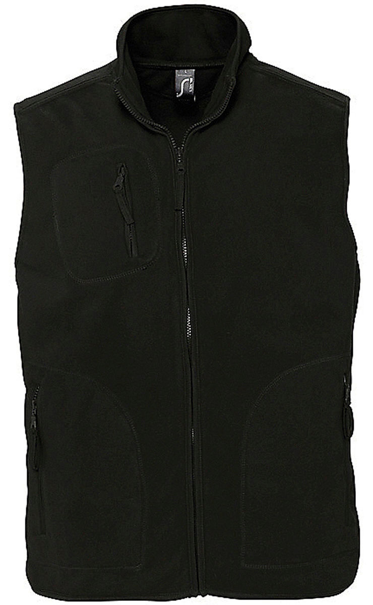 Gilet sans manches bodywarmer polaire unisexe - 51000 - noir