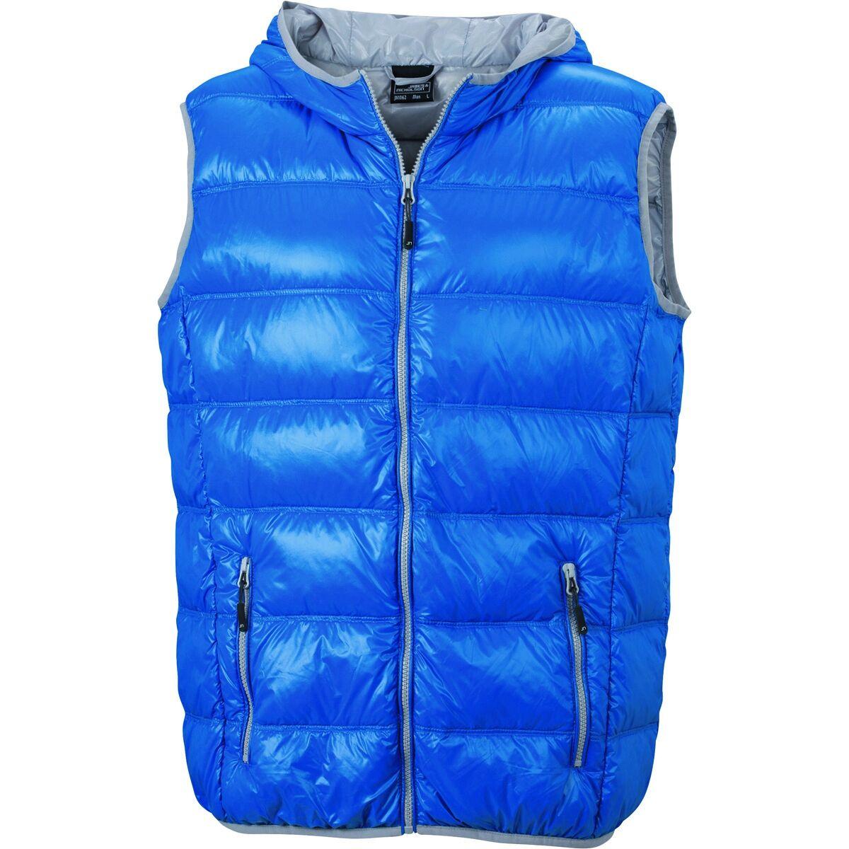 Bodywarmer duvet doudoune sans manches anorak homme - JN1062 - bleu