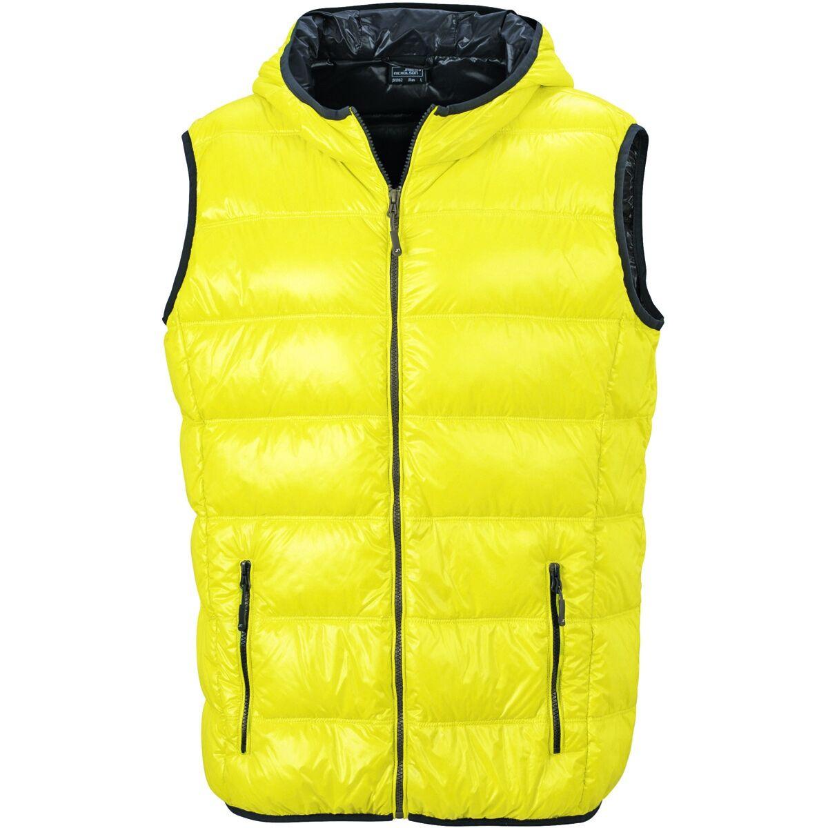 Bodywarmer duvet doudoune sans manches anorak homme - JN1062 - jaune