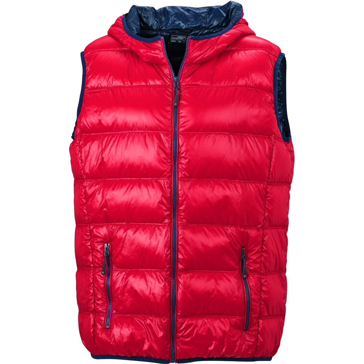 Bodywarmer duvet doudoune sans manches anorak homme - JN1062 - rouge