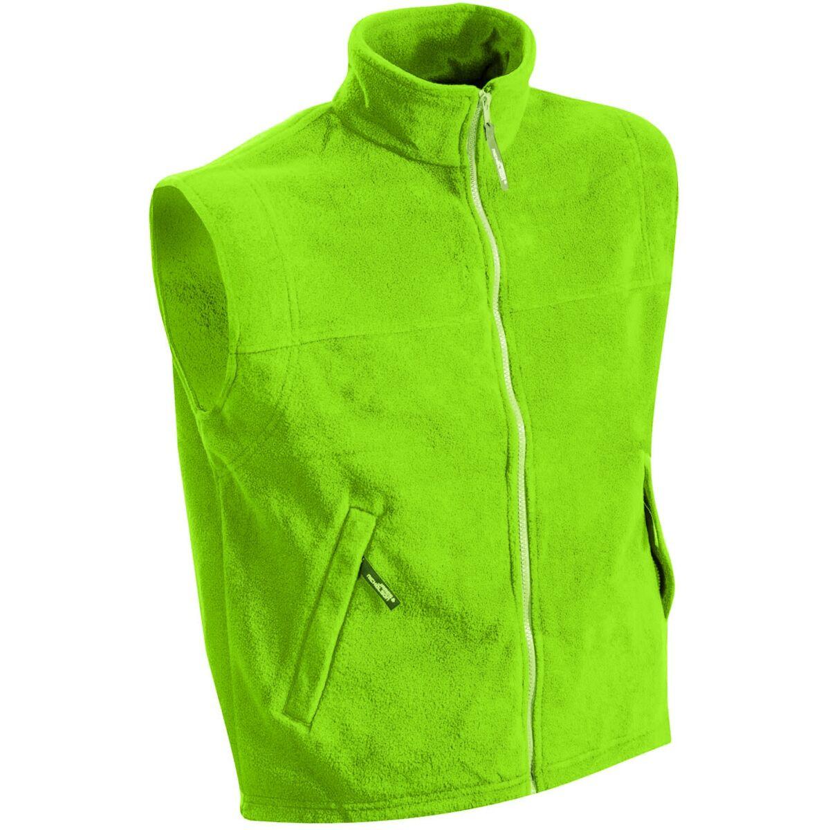 Gilet sans manches bodywarmer polaire homme - JN045 - vert citron