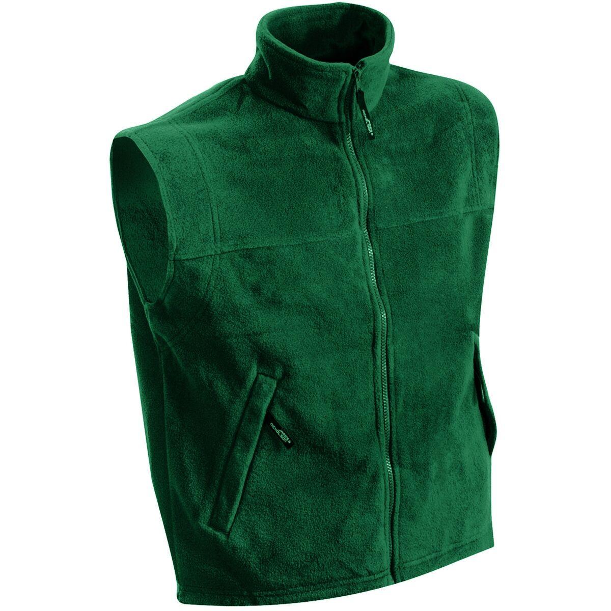 Gilet sans manches bodywarmer polaire homme - JN045 - vert foncé