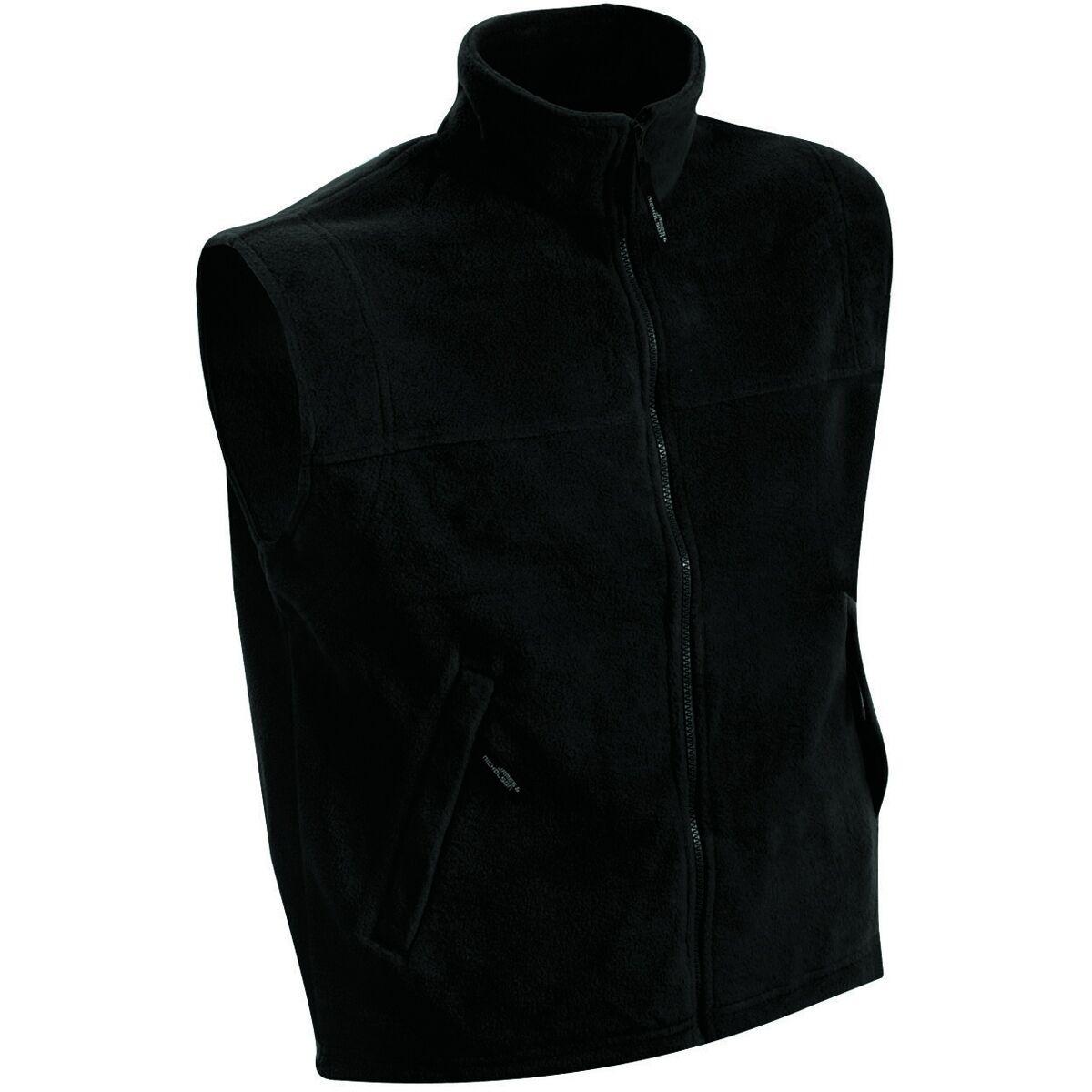 Gilet sans manches bodywarmer polaire homme - JN045 - noir