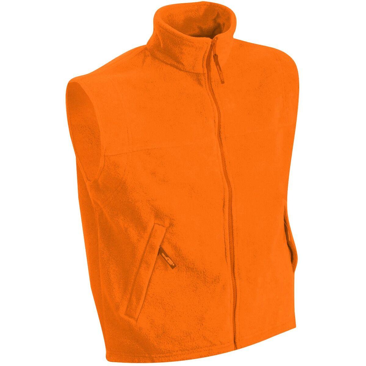 Gilet sans manches bodywarmer polaire homme - JN045 - orange