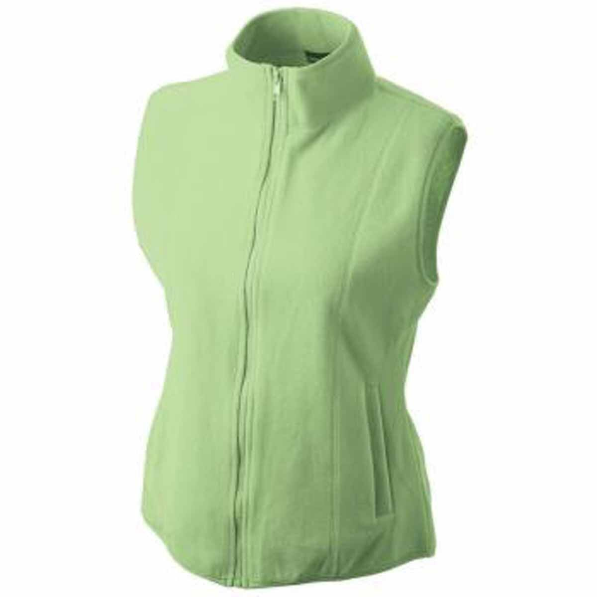 gilet sans manches bodywarmer polaire femme jn048 vert. Black Bedroom Furniture Sets. Home Design Ideas