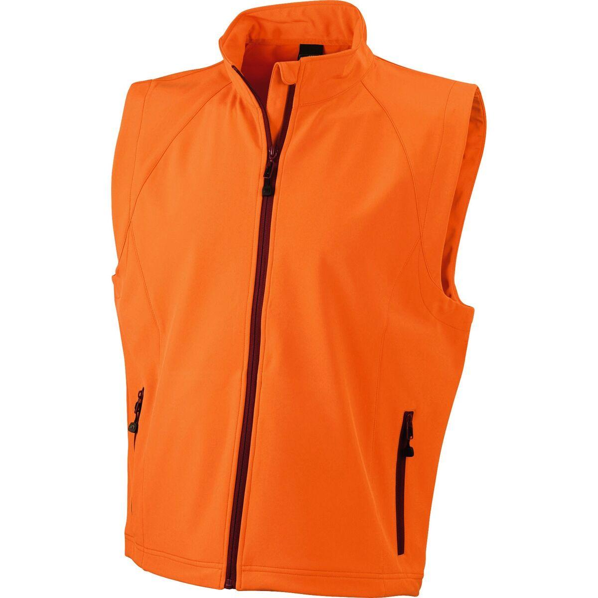 Gilet sans manches softshell coupe-vent imperméable - JN1022 - orange - homme