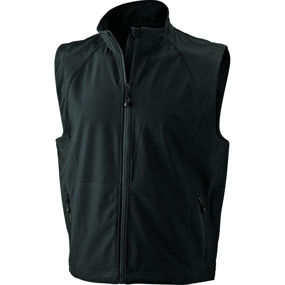 Gilet sans manches softshell coupe-vent imperméable - JN1022 - noir - homme