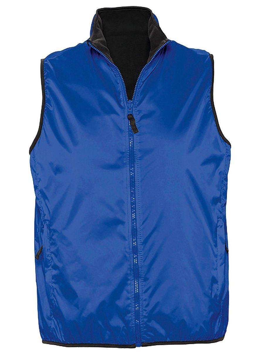 Gilet sans manches réversible imperméable doublé 44001 - bleu roi - unisexe
