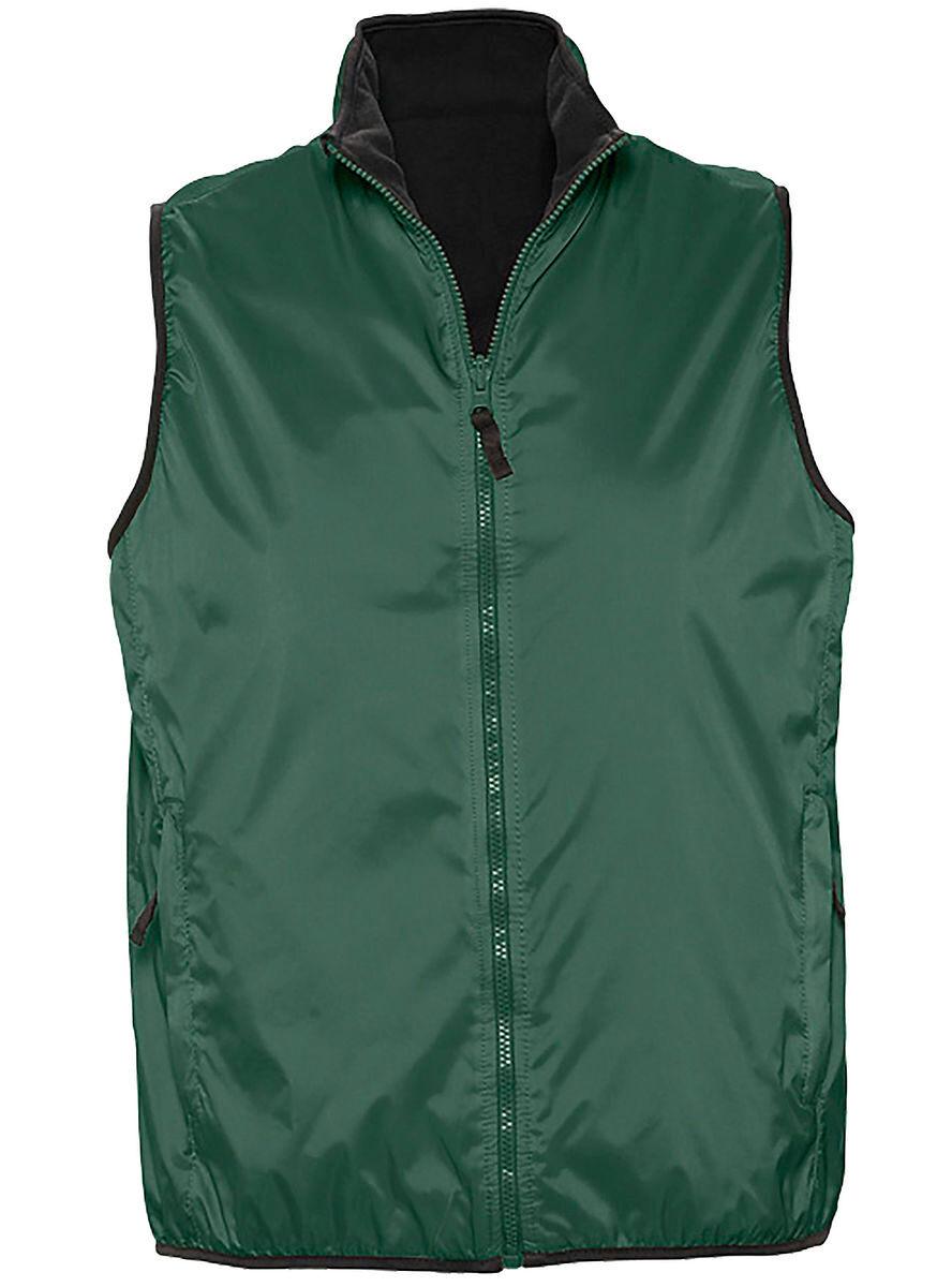 Gilet sans manches réversible imperméable doublé 44001 - vert forêt - unisexe
