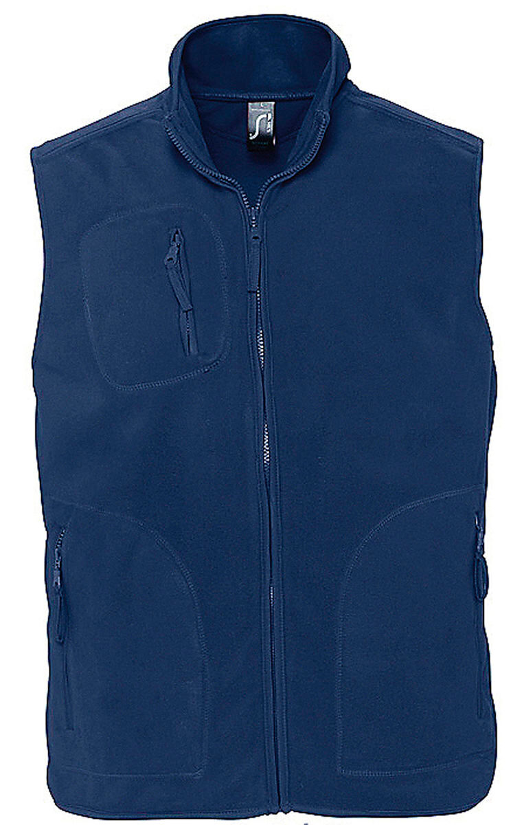 Gilet sans manches bodywarmer polaire unisexe - 51000 - bleu marine