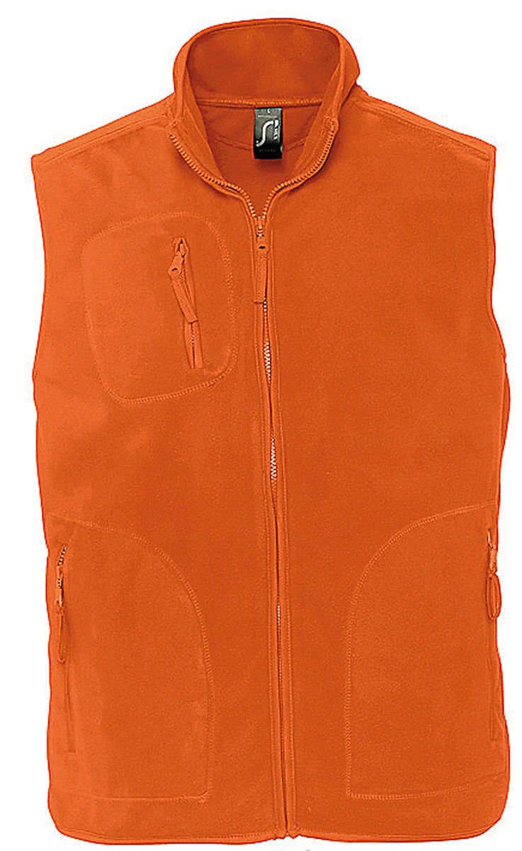 Gilet sans manches bodywarmer polaire unisexe - 51000 - orange