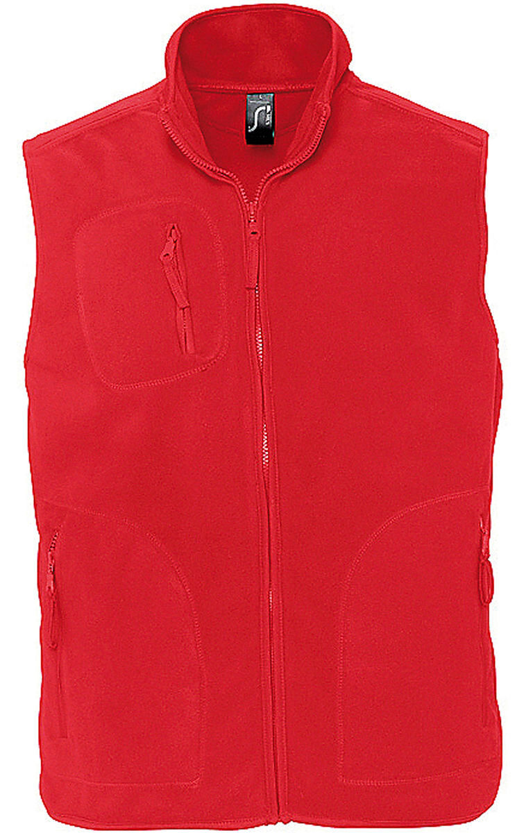 Gilet sans manches bodywarmer polaire unisexe - 51000 - rouge