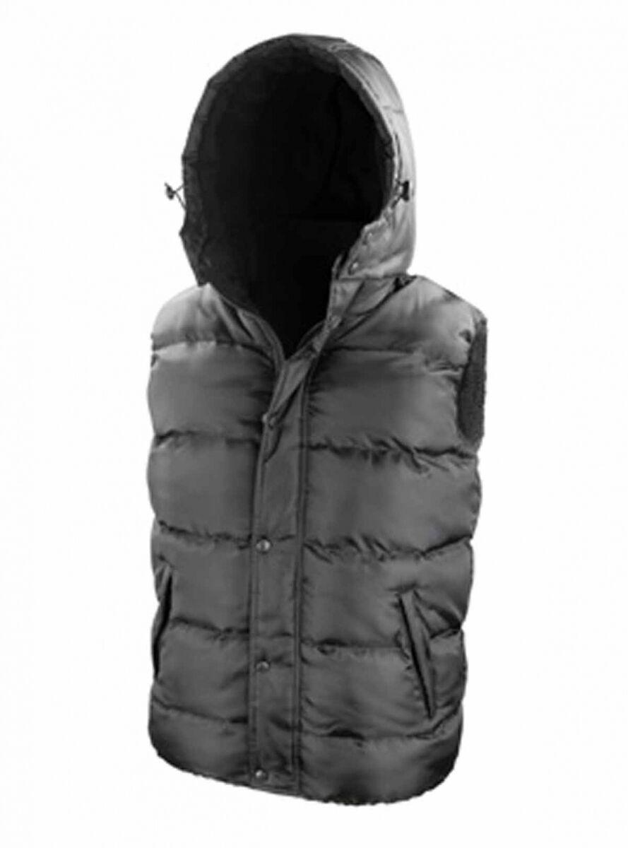 Doudoune anorak sans manches bodywarmer - R223X - noir