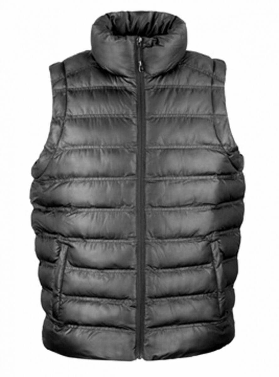 Doudoune anorak sans manches bodywarmer HOMME - R193M - noir
