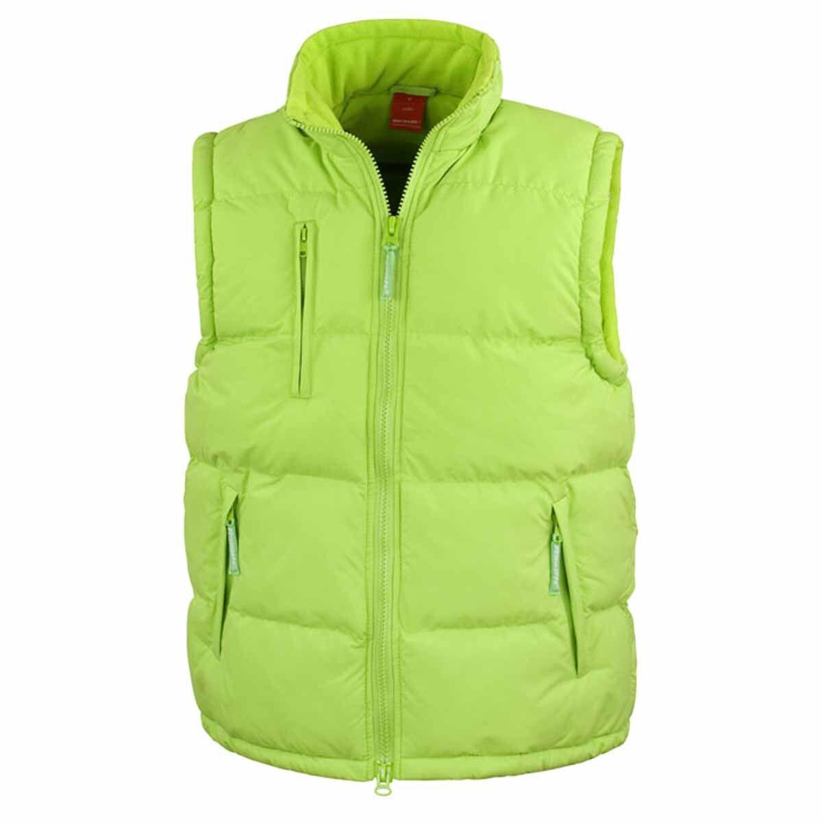 Doudoune anorak sans manches bodywarmer - R088X - vert citron