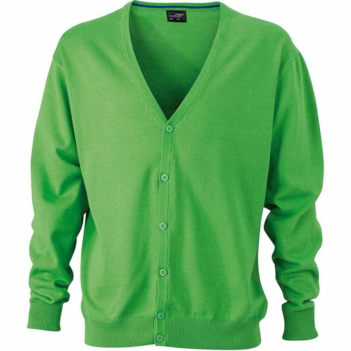 Gilet boutonné cardigan - HOMME - JN661 - vert