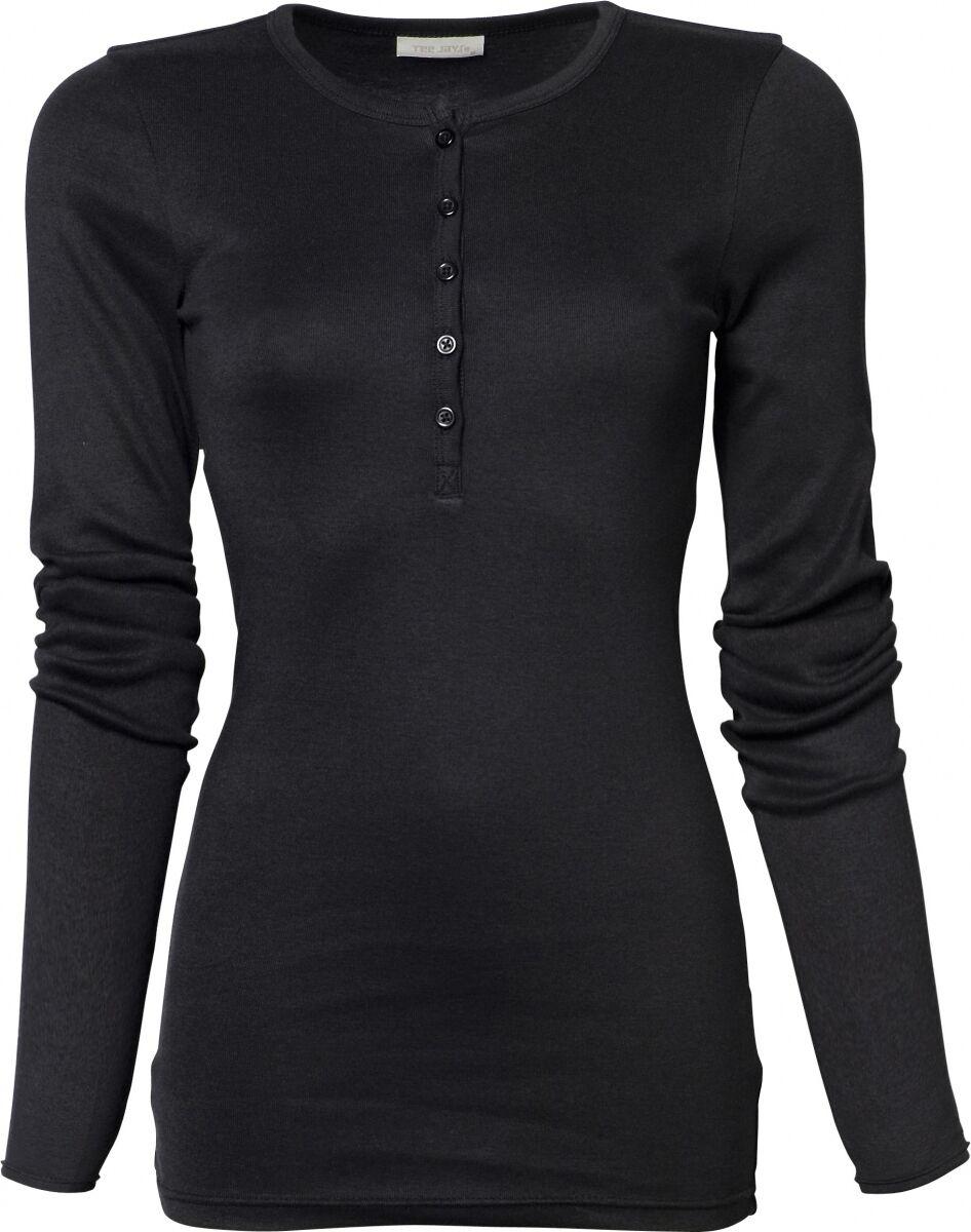 680 Noir Manches Boutonné Col Femme Longues Shirt Tunisien T Henley O8nvNm0w