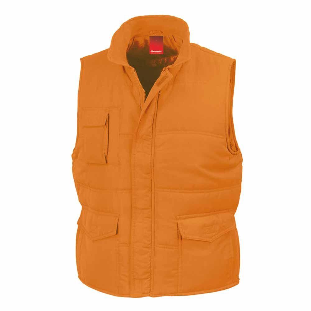 Doudoune anorak homme sans manches - Bodywarmer R094X - orange