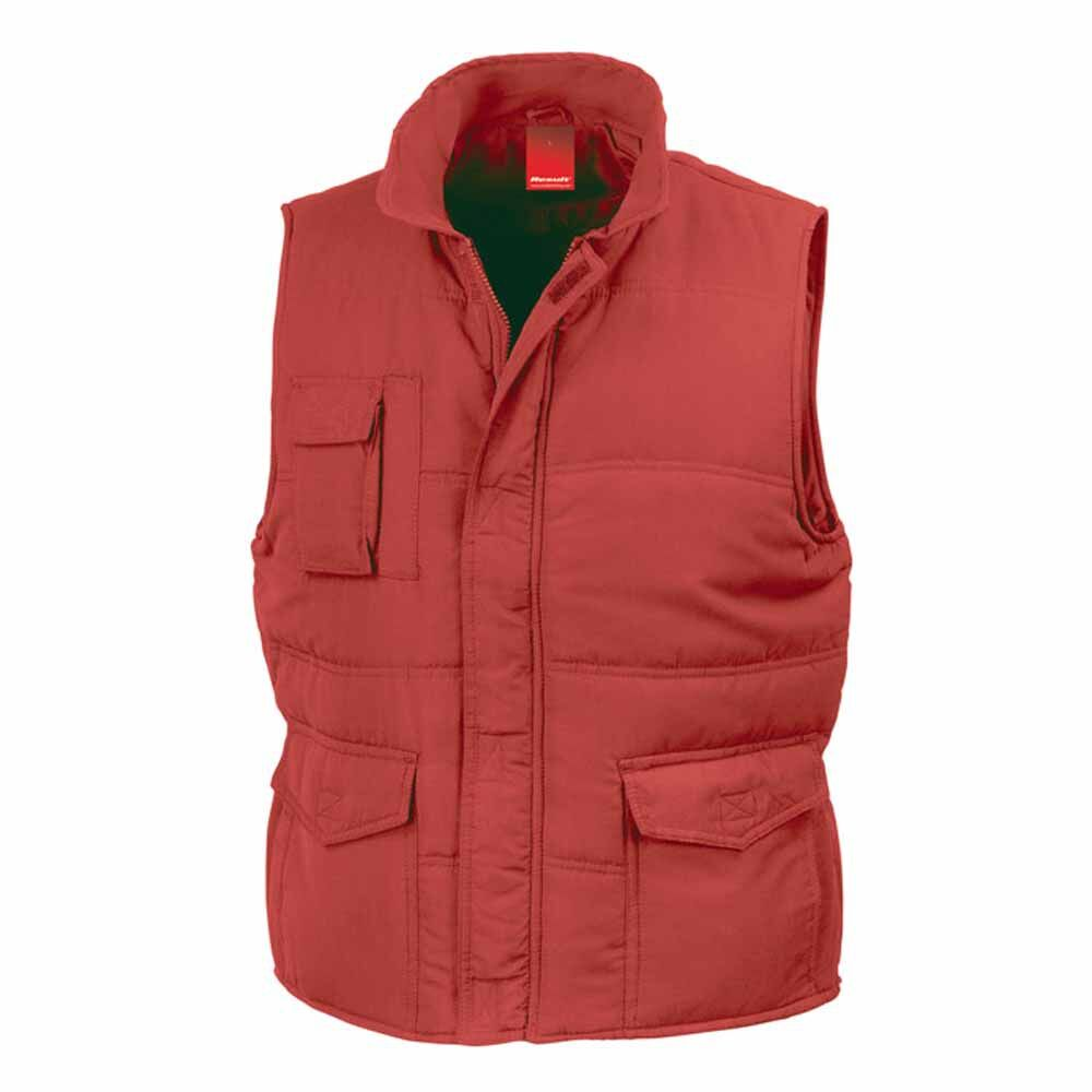 Doudoune anorak homme sans manches - Bodywarmer R094X - rouge