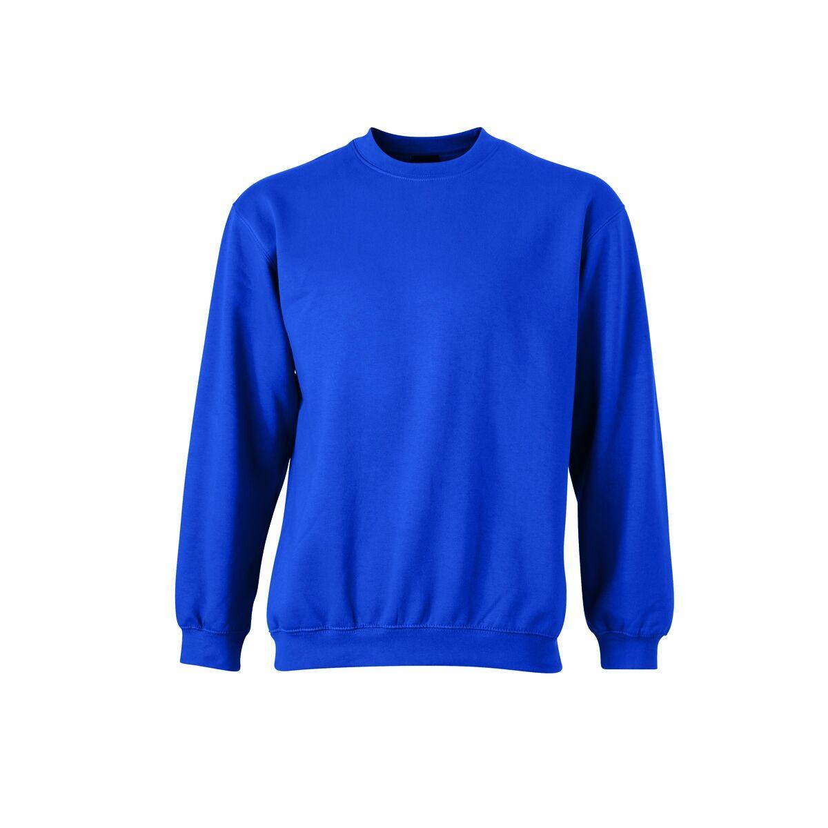 Sweat shirt col rond JN040 bleu royal mixte homme femme
