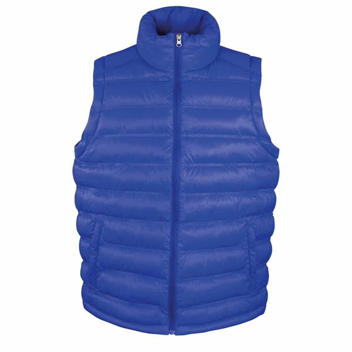 Doudoune anorak sans manches bodywarmer HOMME - R193M - bleu roi
