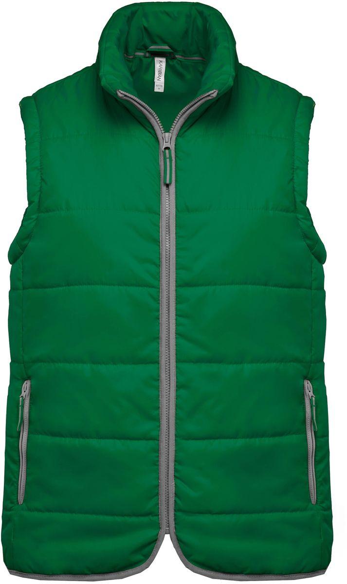 Doudoune sans manches - K6116 - vert - bodywarmer matelassé