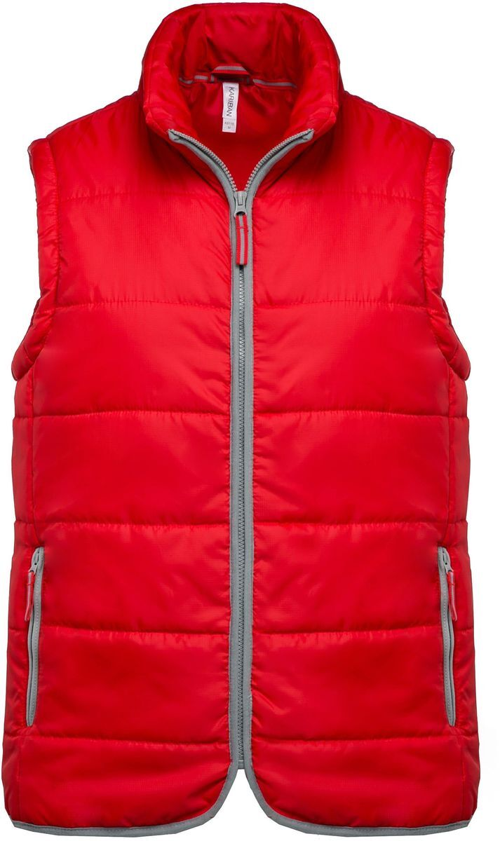 Doudoune sans manches - K6116 - rouge - bodywarmer matelassé