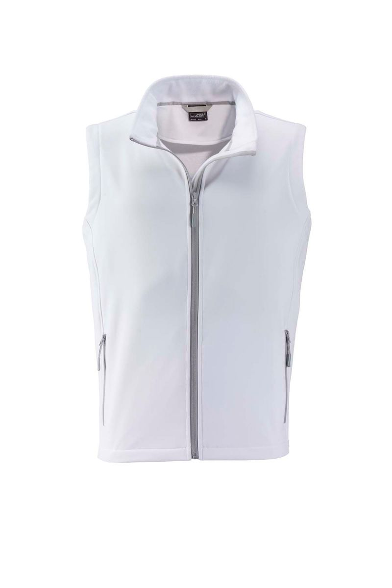 Gilet sans manches micropolaire softshell - JN1128 - blanc - Homme