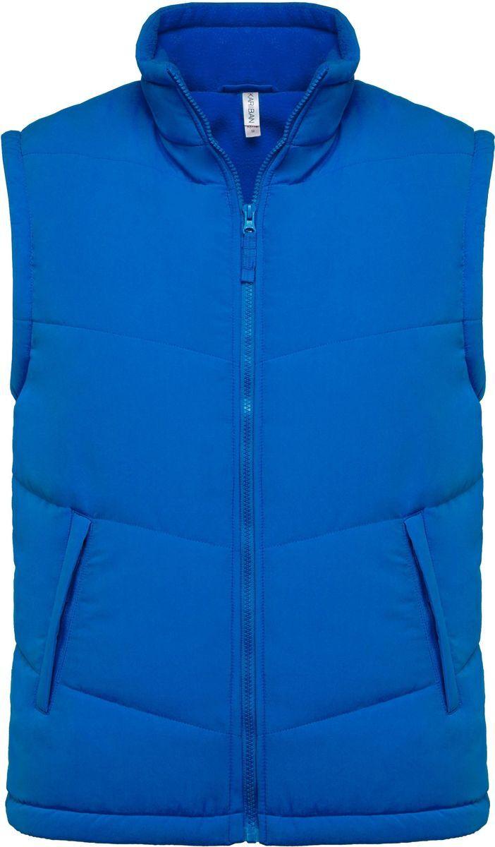 Veste sans manches doublée polaire - K6118 - bleu roi