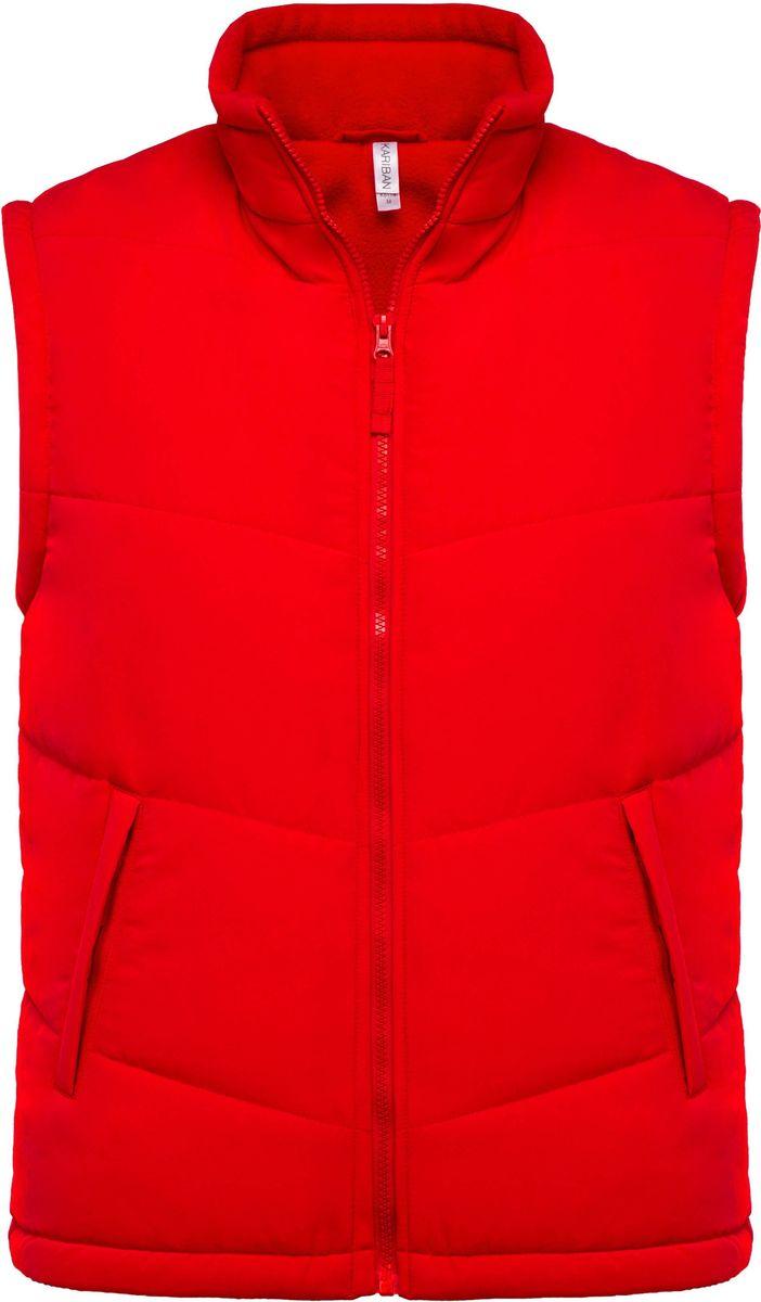Veste sans manches doublée polaire - K6118 - rouge
