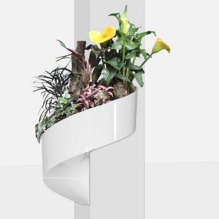 pot de fleur mural design blanc modul green. Black Bedroom Furniture Sets. Home Design Ideas