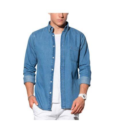 Chemise homme en jeans Chemise 568 bleu