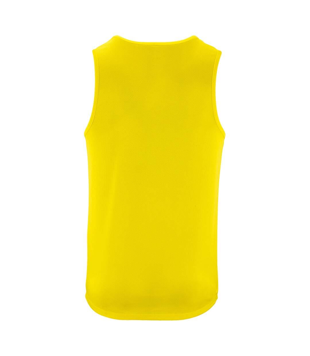 SOLS Mens Sporty Performance Tank Top (Neon Yellow) - UTPC2904
