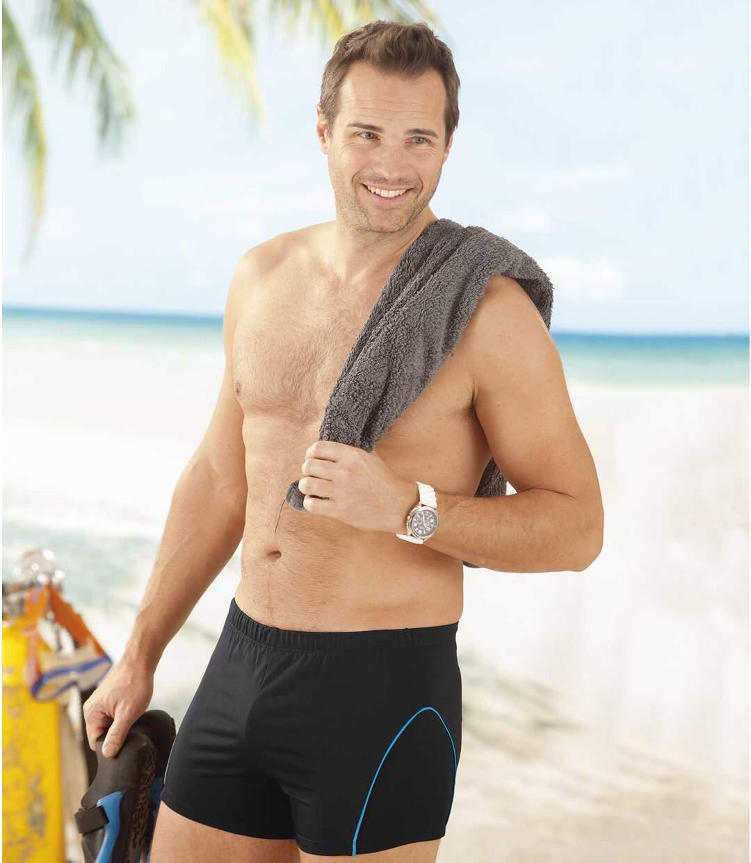 Men's Fitted Swim Shorts - Black