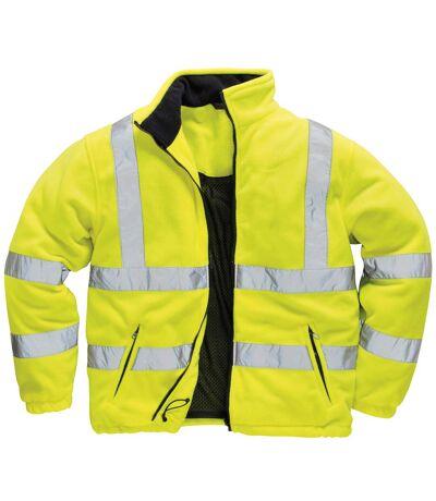 Portwest Mens Lined Hi Vis Fleece Jacket (Pack of 2) (Yellow) - UTRW6878