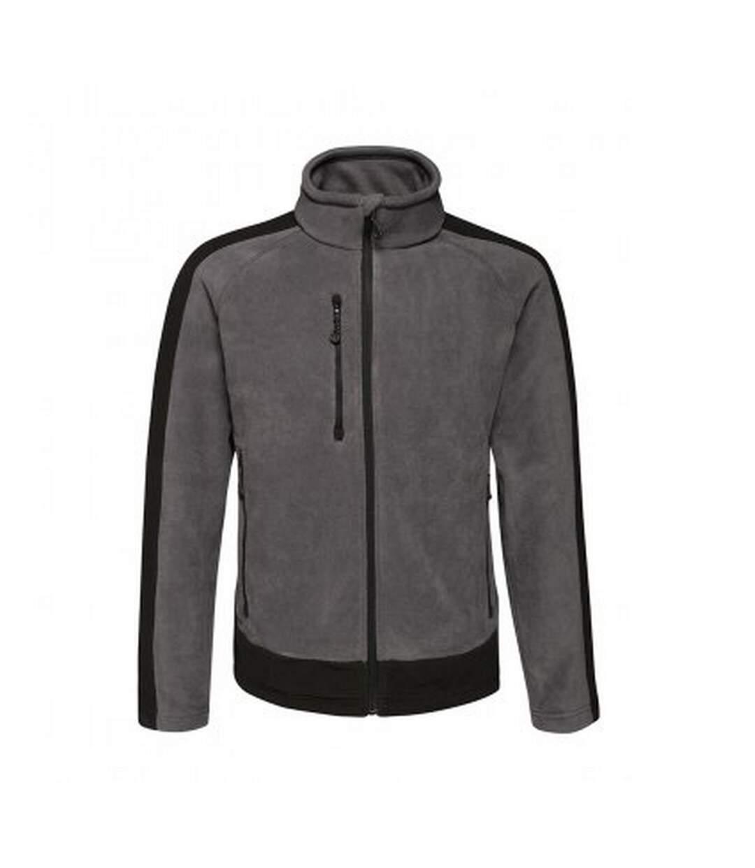 Regatta Mens Contrast 300 Fleece Jacket (Seal Grey/Black) - UTPC3319
